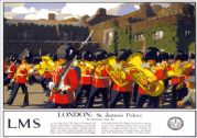 London, St James's Palace. Vintage LMS Travel Poster by Christopher Clark